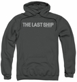 Last Ship pull-over hoodie Distressed Logo adult charcoal