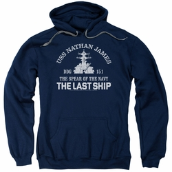 Last Ship pull-over hoodie Open Water adult navy