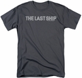 Last Ship t-shirt Distressed Logo mens charcoal