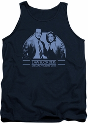 Law and Order SVU tank top Elliot & Olivia mens navy