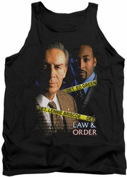 Law and Order tank top Briscoe&Green mens black