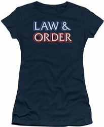 Law & Order juniors t-shirt Logo navy