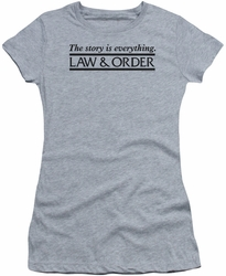 Law & Order juniors t-shirt Story heather