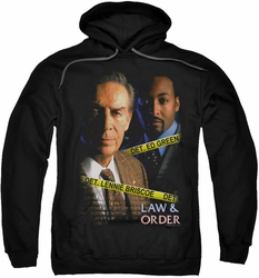 Law & Order pull-over hoodie Briscoe & Green adult black