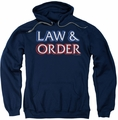 Law & Order pull-over hoodie Logo adult navy