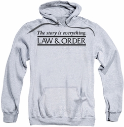 Law & Order pull-over hoodie Story adult athletic heather