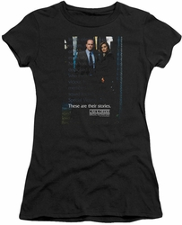 Law & Order SVU juniors t-shirt Title black