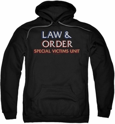 Law & Order SVU pull-over hoodie Logo adult black