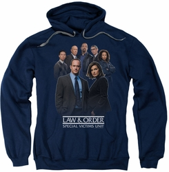 Law & Order SVU pull-over hoodie Team adult navy
