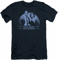 Law & Order Svu slim-fit t-shirt Elliot & Olivia mens navy