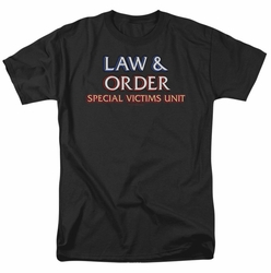 Law & Order SVU t-shirt Logo mens black