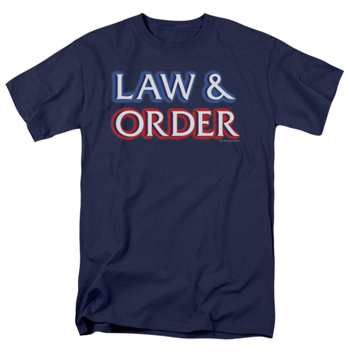 law order t shirt logo mens navy