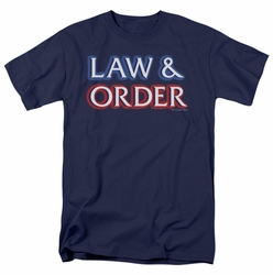 Law & Order t-shirt Logo mens navy