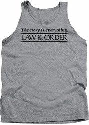 Law & Order tank top Story mens heather