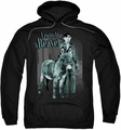 Leave It To Beaver pull-over hoodie Up To Something adult black