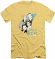 Leave It To Beaver slim-fit t-shirt Wholesome Family mens banana