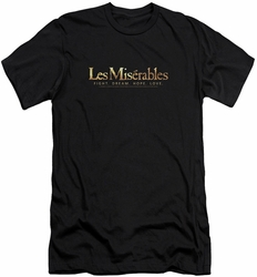 Les Miserables slim-fit t-shirt Logo mens black