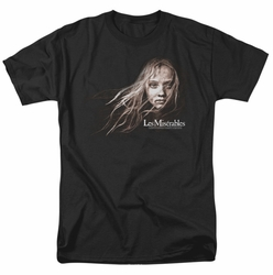 Les Miserables t-shirt Cosette Face mens Black