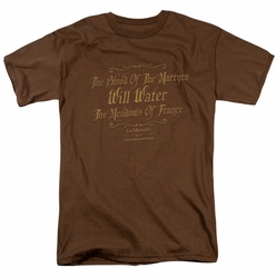 Les Miserables t-shirt Martyrs mens Coffee