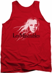Les Miserables tank top Textured Logo mens red