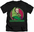 Lex Luthor kids t-shirt DC Comics black