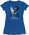 Little Drummer Boy juniors t-shirt White Light royal blue
