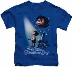 Little Drummer Boy kids t-shirt White Light royal blue