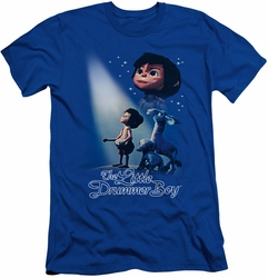 Little Drummer Boy slim-fit t-shirt White Light mens royal blue