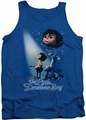 Little Drummer Boy tank top White Light mens royal blue