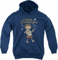 Little Drummer Boy youth teen hoodie Starlight navy
