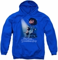 Little Drummer Boy youth teen hoodie White Light royal blue