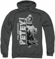 Little Rascals pull-over hoodie Amazing Petey adult charcoal