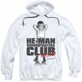 Little Rascals pull-over hoodie Club President adult white