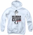 Little Rascals youth teen hoodie Club President white