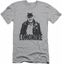Longmire slim-fit t-shirt One Color mens silver