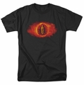 Lord of the Rings Eye of Sauron mens t-shirt black