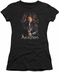 Lord of the Rings juniors t-shirt Aragorn black