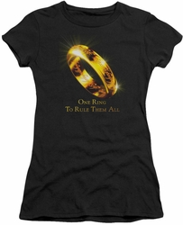 Lord of the Rings juniors t-shirt One Ring black