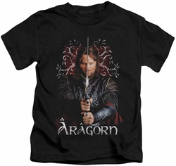 Lord of the Rings kids t-shirt Aragorn black