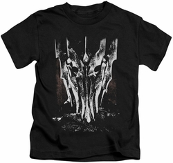 Lord of the Rings kids t-shirt Big Sauron Head black