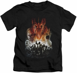 Lord of the Rings kids t-shirt Evil Rising black