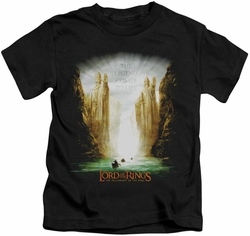 Lord of the Rings kids t-shirt Kings of Old black