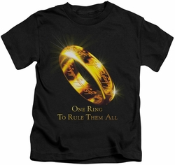 Lord of the Rings kids t-shirt One Ring black