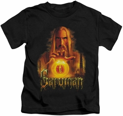 Lord of the Rings kids t-shirt Saruman black
