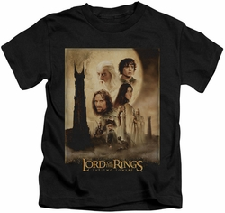 Lord of the Rings kids t-shirt Two Towers Poster black