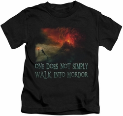 Lord of the Rings kids t-shirt Walk In Mordor black