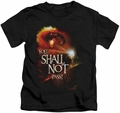 Lord of the Rings kids t-shirt You Shall Not Pass black