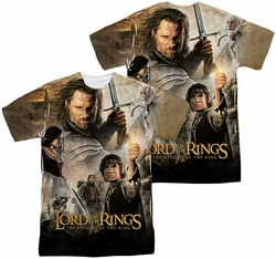 Lord of the Rings mens full sublimation t-shirt King Poster
