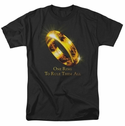 Lord of the Rings One Ring mens t-shirt black