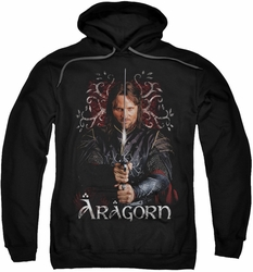 Lord Of The Rings pull-over hoodie Aragorn adult black